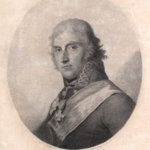 Karl August Senff Domenico Bossi järgi / Karl August Senff after Domenico Bossi. Friedrich Maximilian von Klinger. 1806–1807. Punktiirmaneer / Stipple engraving
