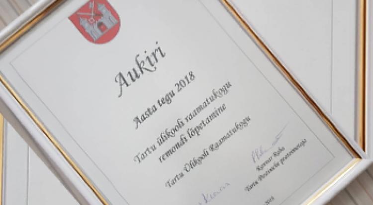 3bd3ca27aca Tartu linnavalitsuse ja ajalehe Tartu Postimees ühise võistluse «Aasta tegu  2018» kümne enim hääli saanud nominendi seas oli tänavu ka Tartu Ülikooli  ...